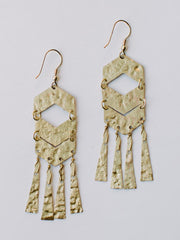 Souk Fringe Earrings Gold