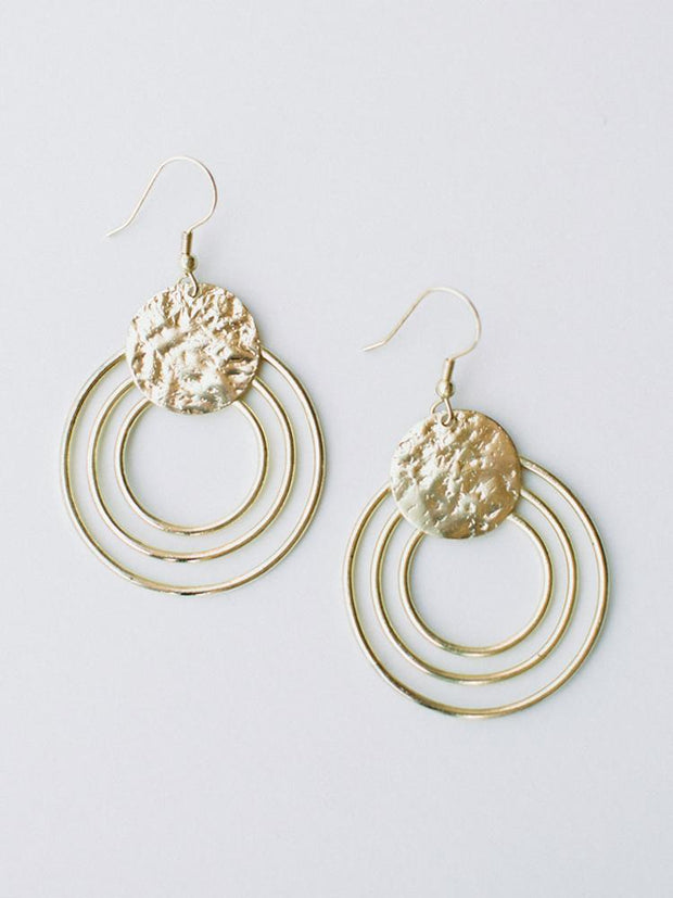 Splendid Sun Earrings Gold