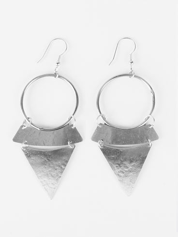 Stacked Sunra Earrings Silver