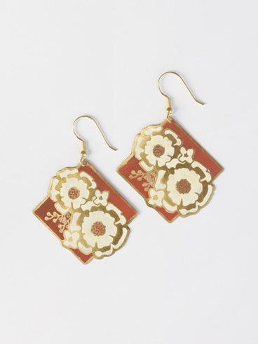 Still Life Earrings Rust