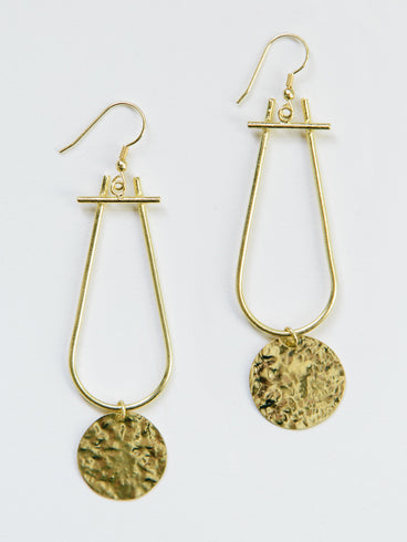 Sun Drop Earrings Gold