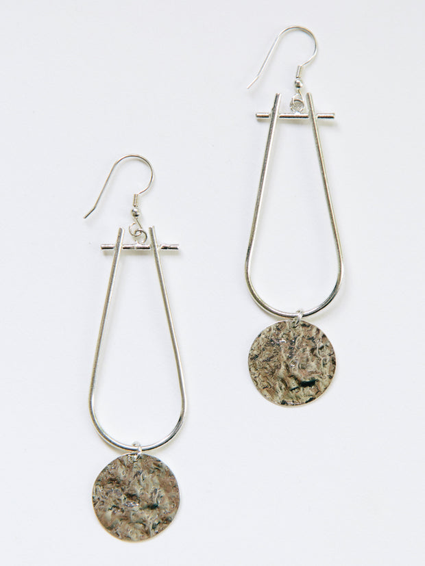 Sun Drop Earrings Silver