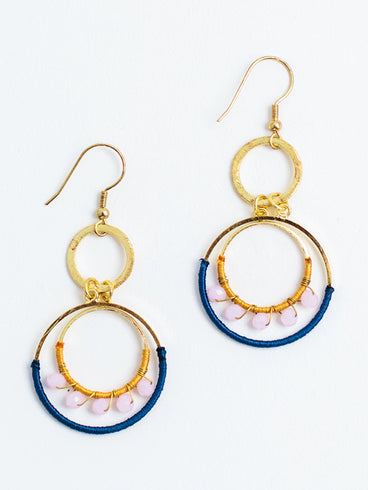 Thread Dot Earrings