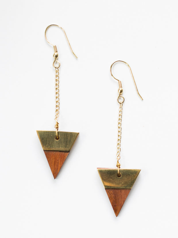 Trailing Triangle Earrings