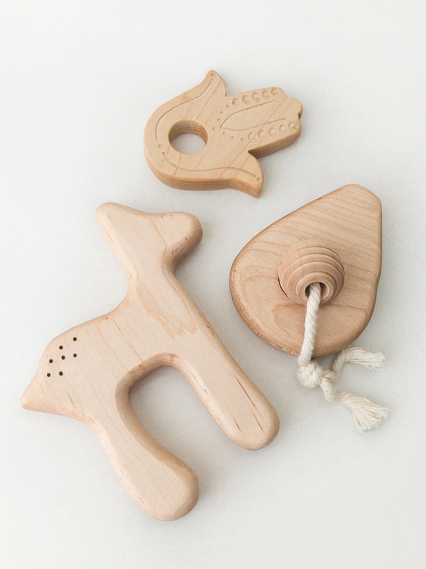 Clover + Birch Wood Baby Teether Deer