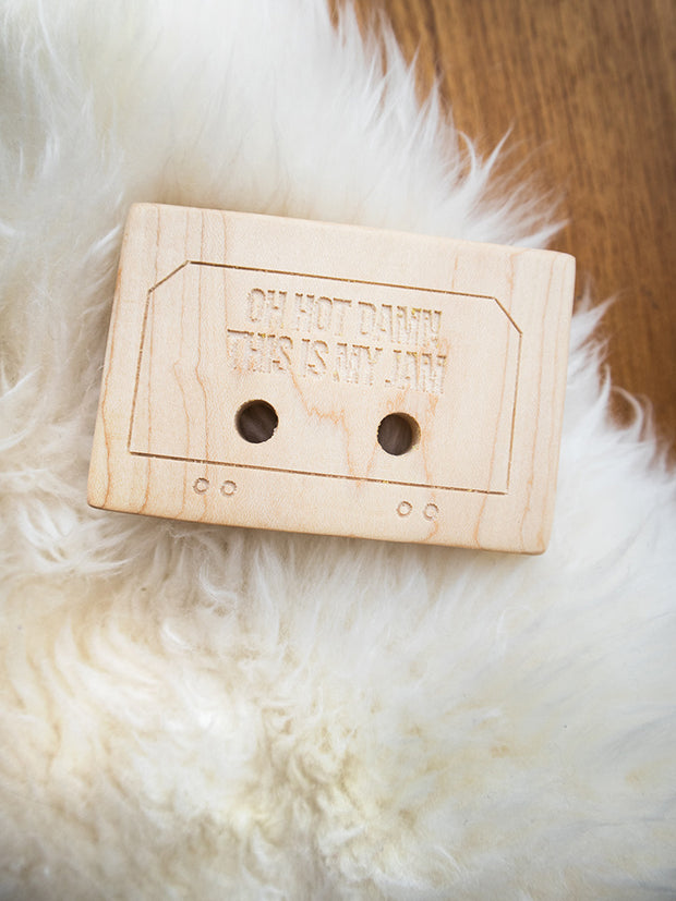 Clover + Birch Wood Baby Teether Mix Tape