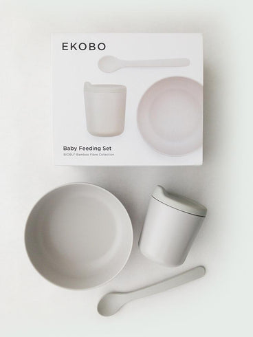 Ekobo Bambino Baby Feeding Set Cloud