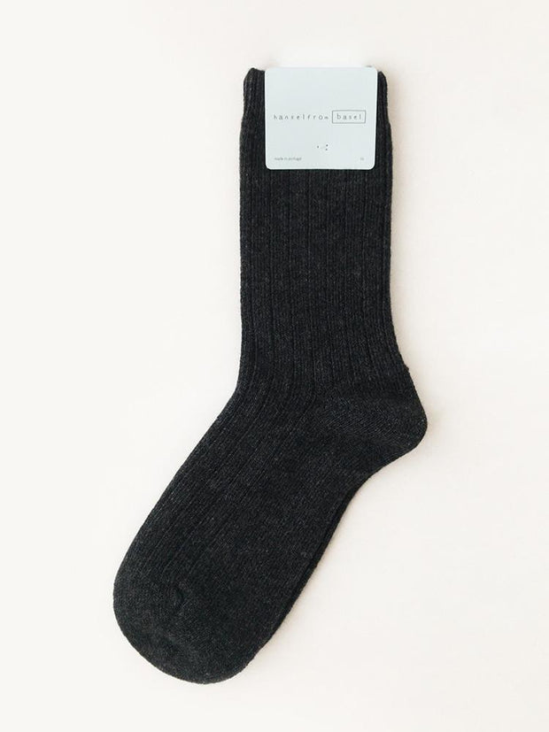 Hansel From Basel Cashmere Sock Charcoal