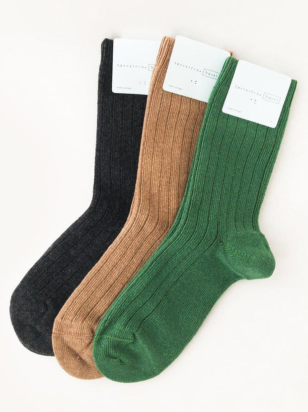 Hansel From Basel Cashmere Sock Camel