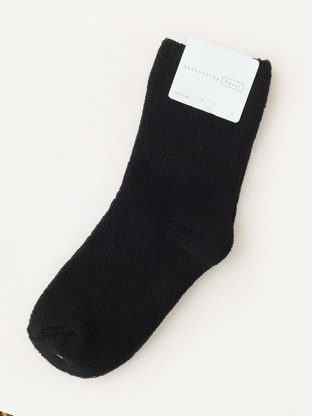 Hansel From Basel Pile Crew Socks Black