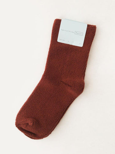 Hansel From Basel Pile Crew Socks Clay