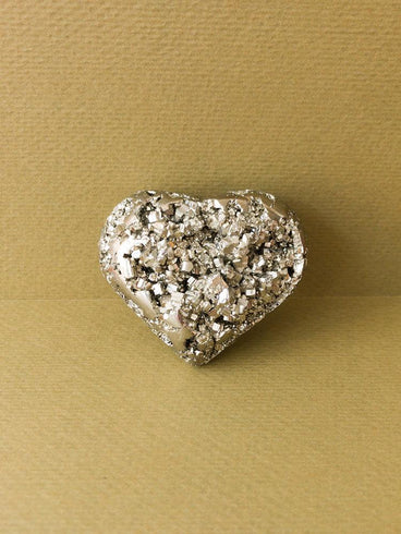 Golden Pyrite Heart
