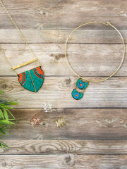 Mosaic Collar Necklace Turquoise