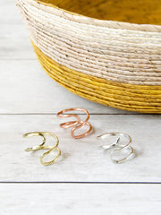 Meander Ring Copper