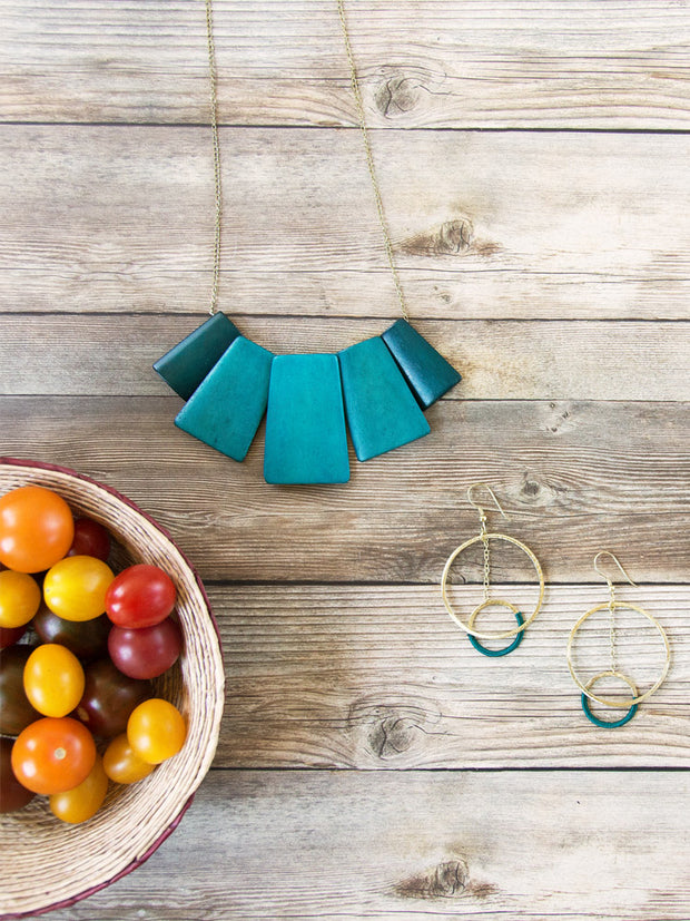Voyager Necklace Teal