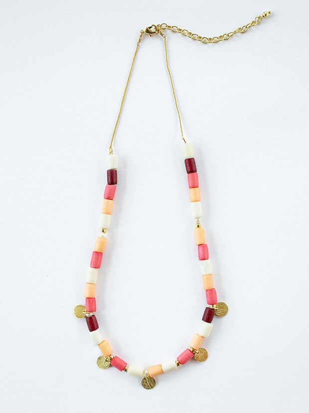 Emily Necklace Coral