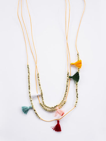 Capri Tassel Necklace Multi