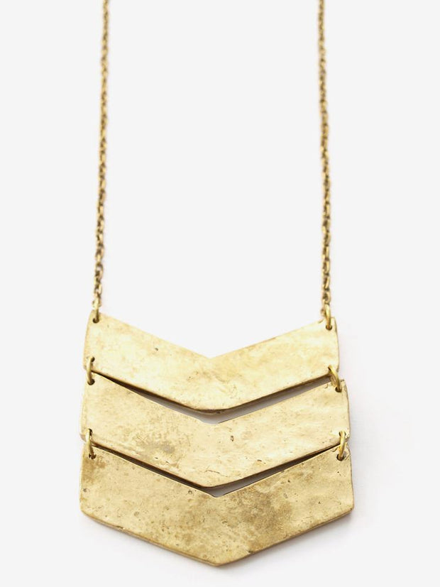 Chevron Necklace Gold