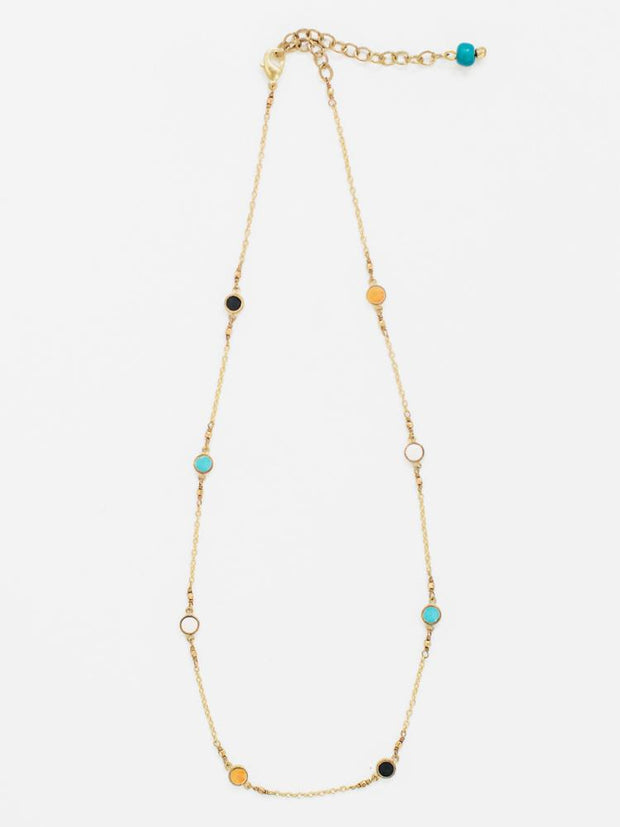 Dainty Dot Necklace Multi