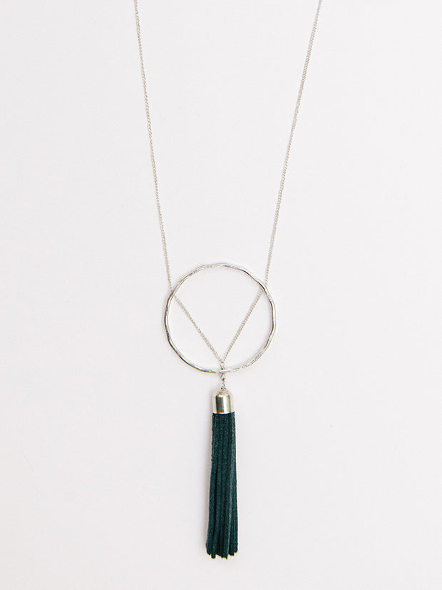 Ellaria Tassel Necklace Grey
