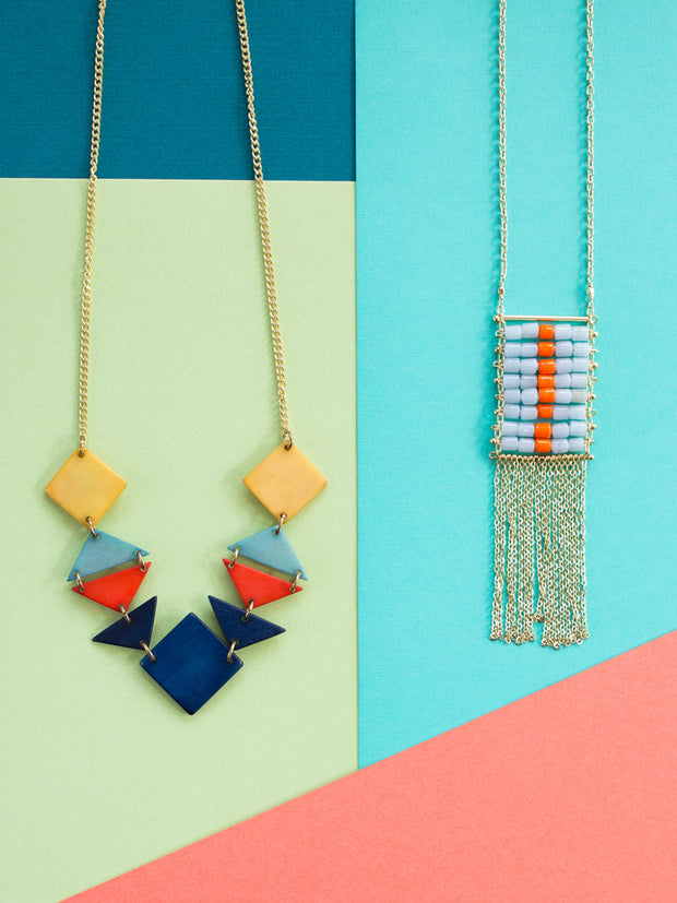 Festive Hues Necklace Blue