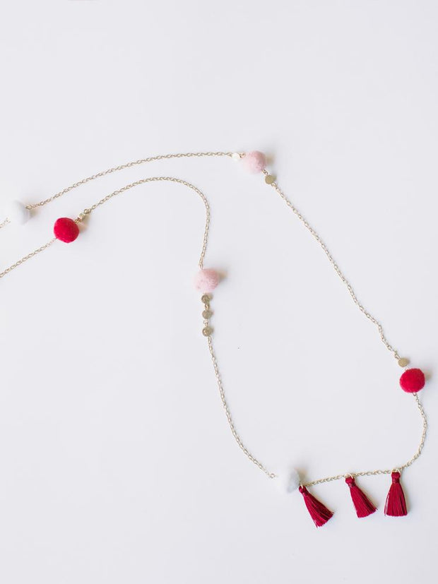 Fete Necklace Red
