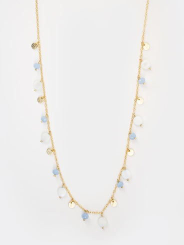 Gracie Beaded Necklace Gold
