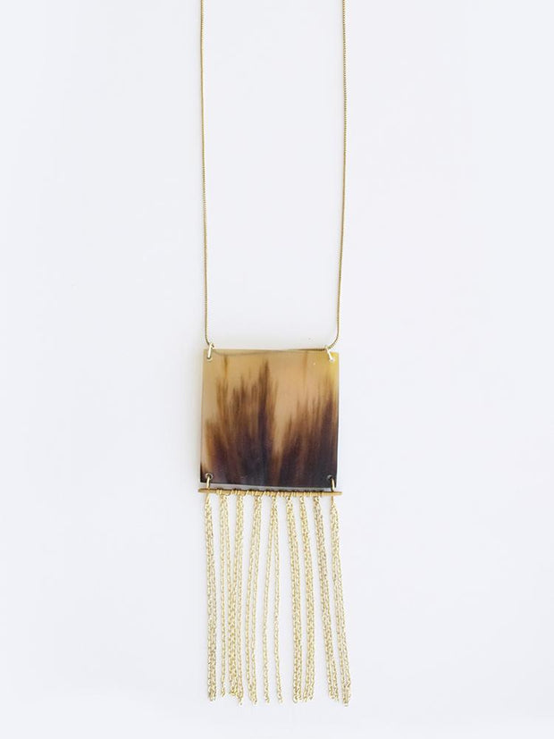 Horn Fringe Necklace