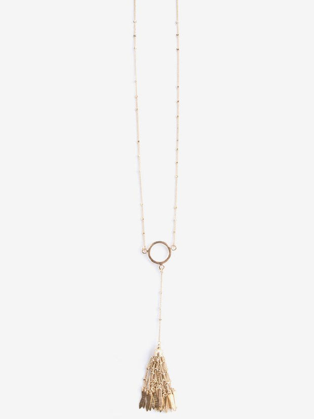 Ibiza Tassel Necklace Gold