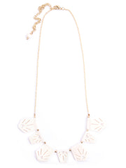 Irena Etched Necklace White