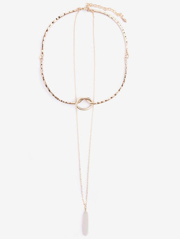 Layered Knot Choker Gold