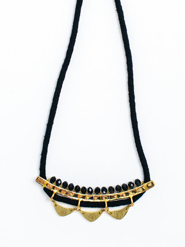 Malika Necklace Black