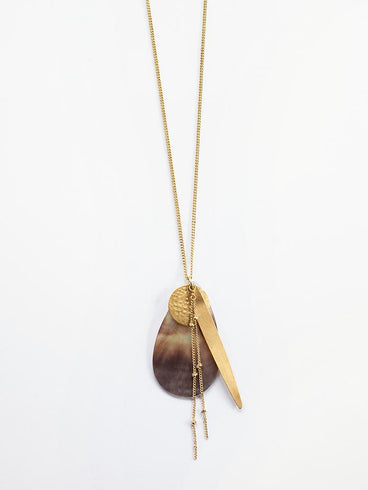 Meridian Shell Necklace Gold