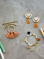 Moonbeam Tassel Necklace Apricot