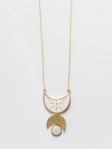 Moon Child Necklace White