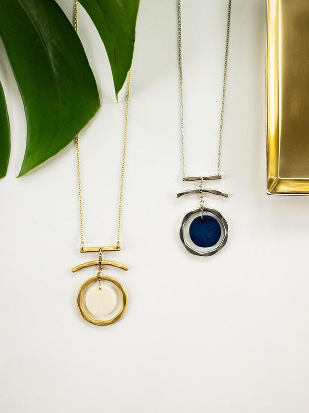 Moon Dance Necklace Navy