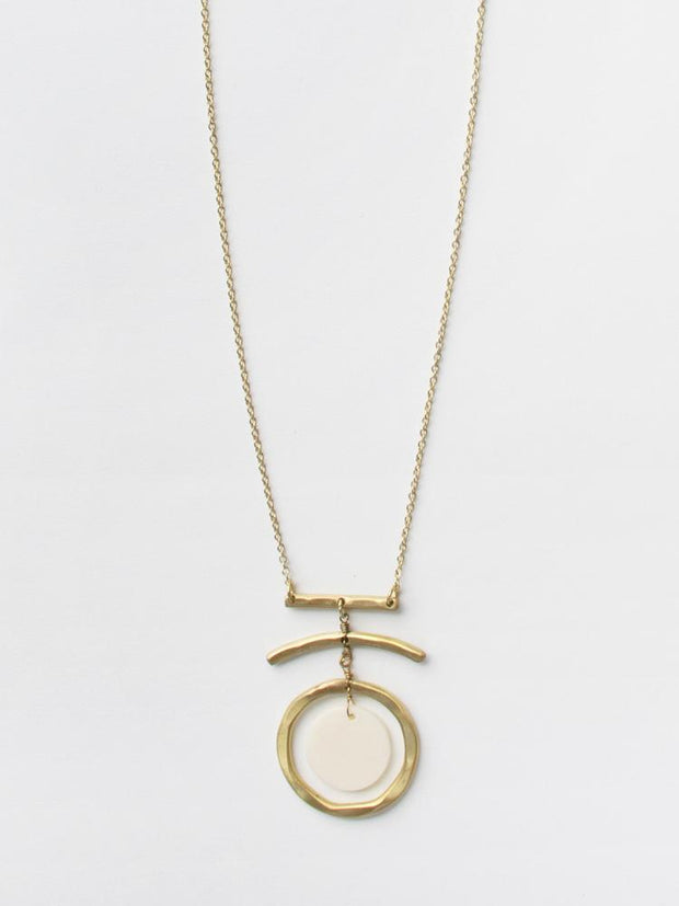 Moon Dance Necklace White