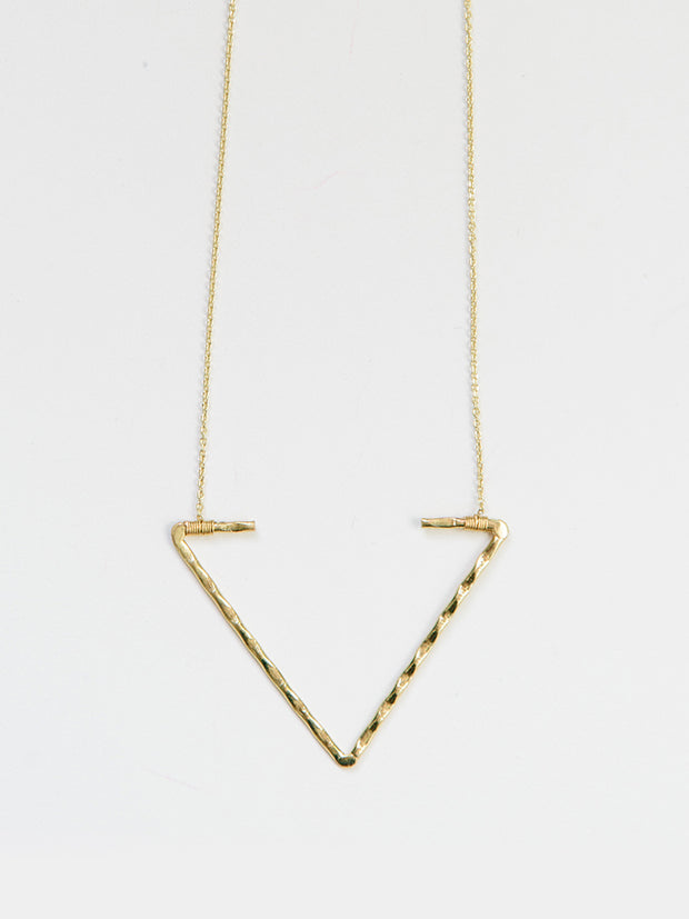 Open Arrow Necklace Gold