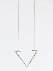 Open Arrow Necklace Silver