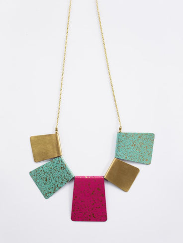 Patina Bib Necklace Multi