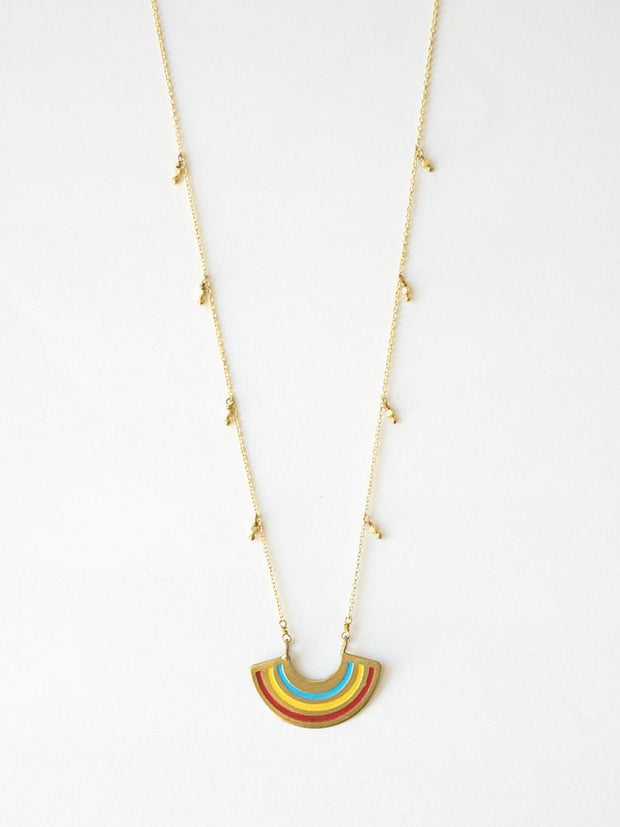 Petite Rainbow Necklace Multi Color
