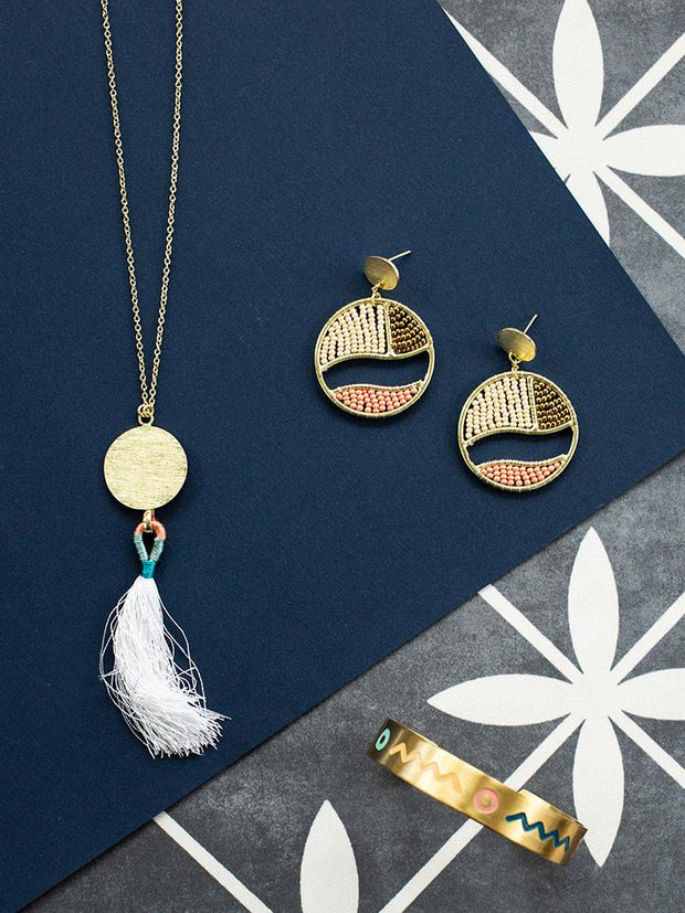 Petite Tassel Necklace White