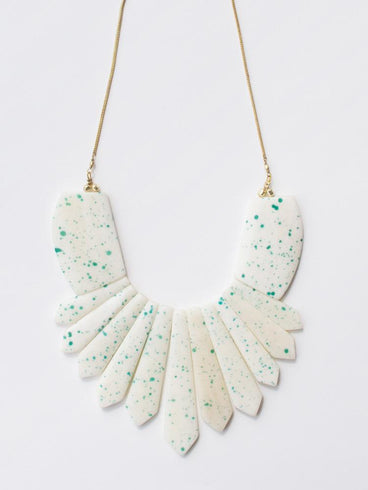 Seurat Speckle Necklace Blue