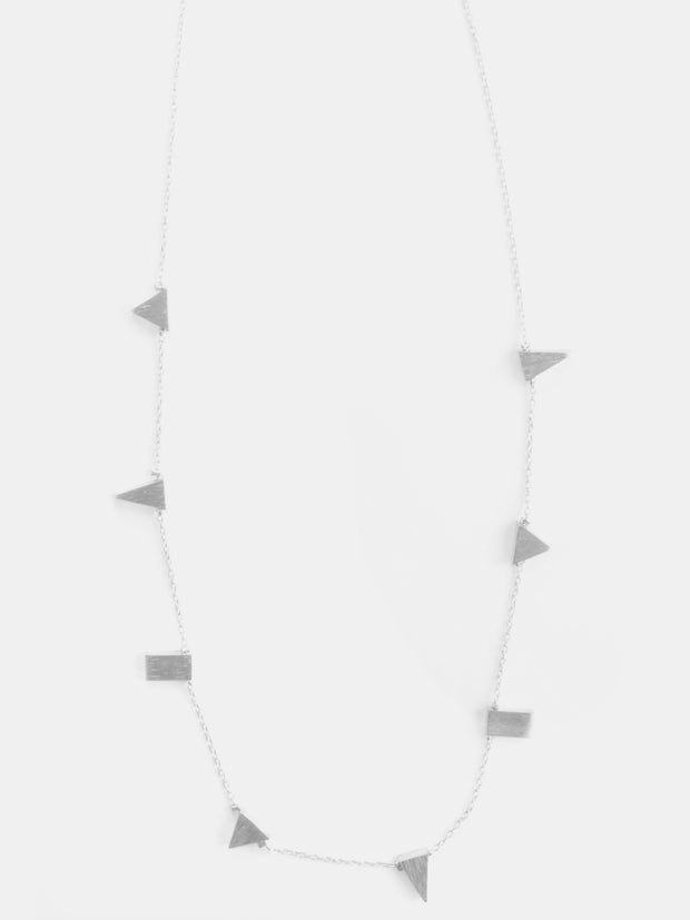 Simple Shapes Necklace Silver