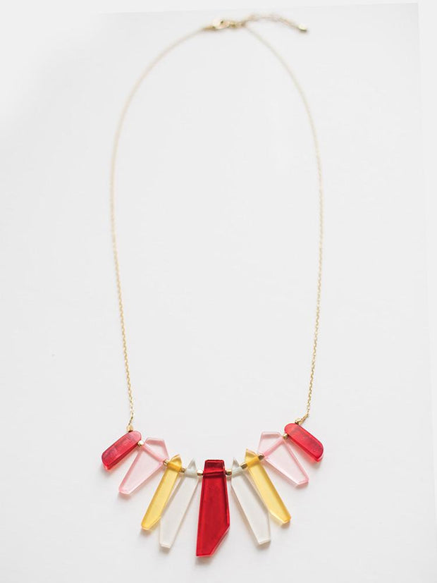 Stained Glass Necklace Red