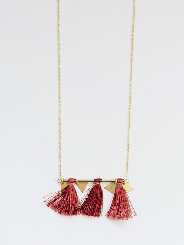 Tassel Bar Necklace Rose