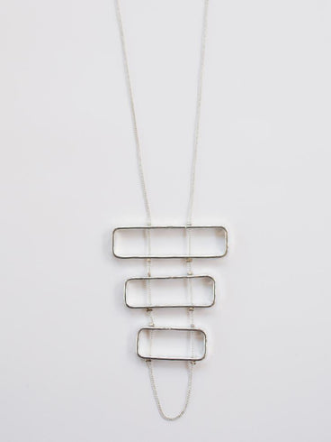 Triptych Necklace Silver