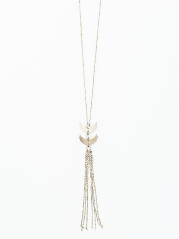 Twilight Tassel Necklace Silver