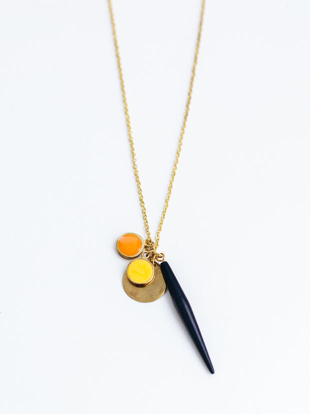 Valencia Charm Necklace Gold