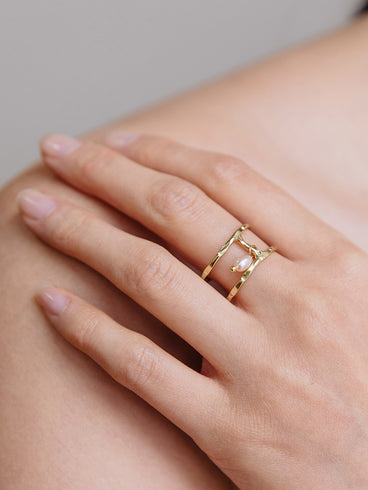 Kelly Bead Ring Gold